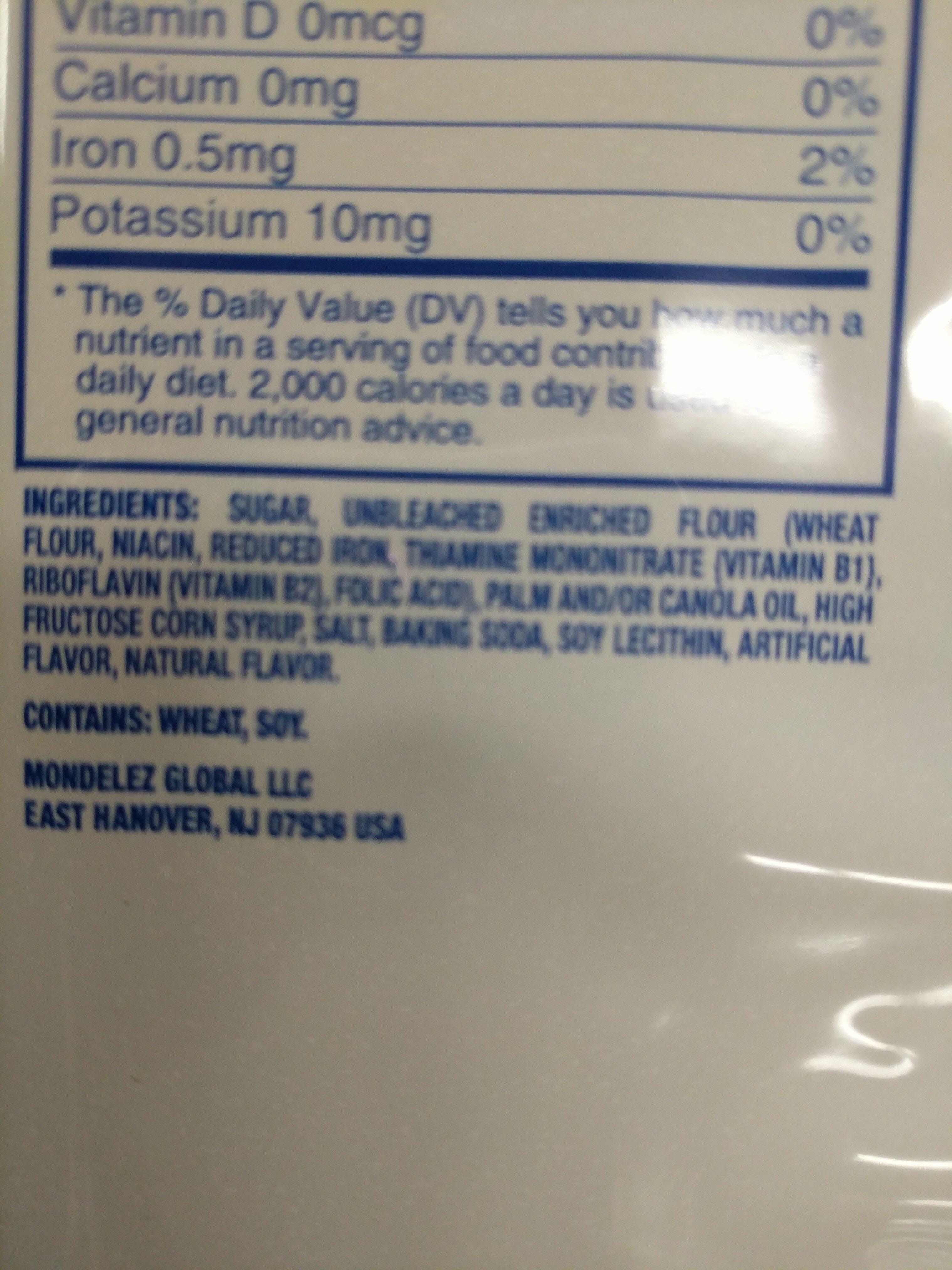 Oreo cookies golden 1x20.000 oz - Ingredients - en