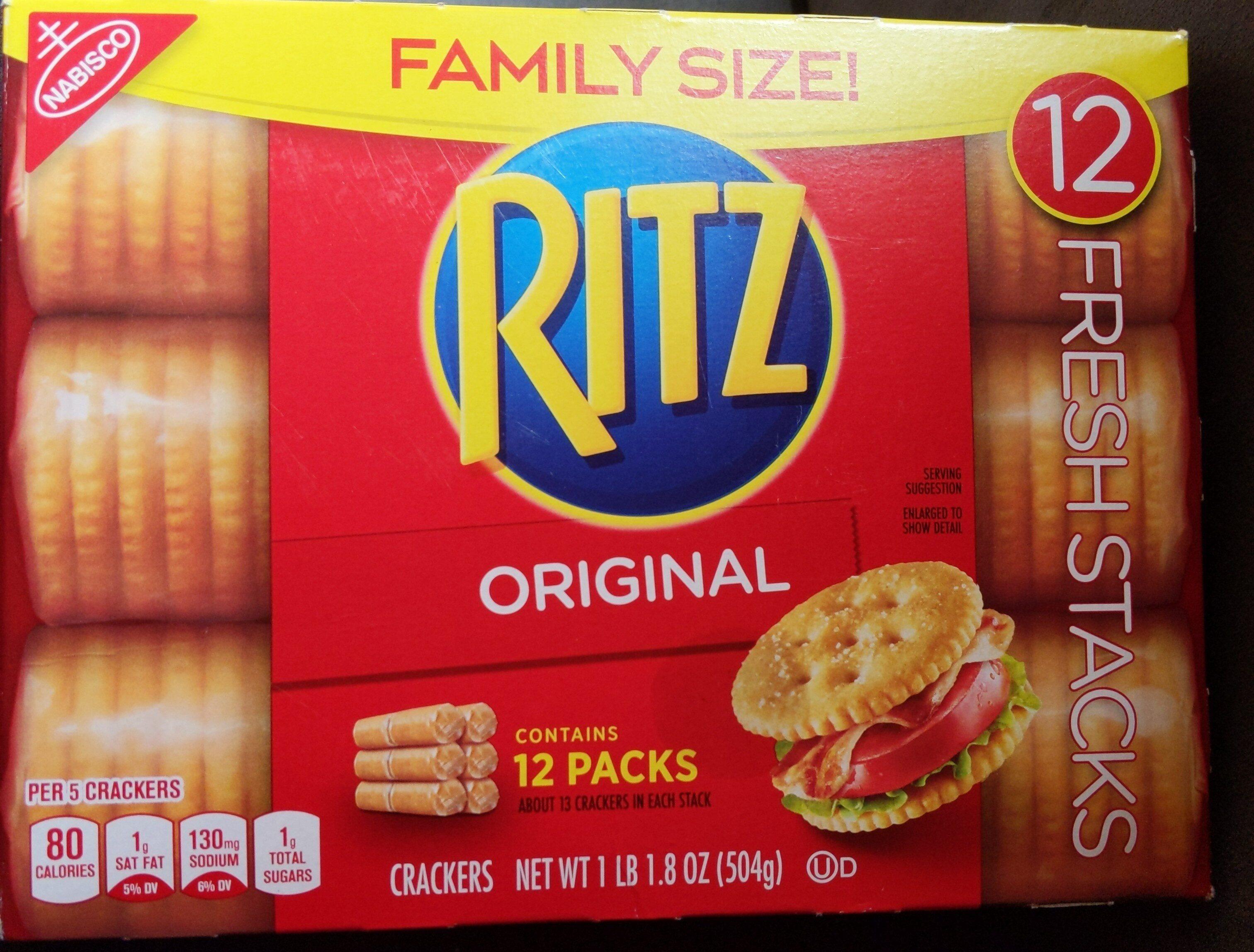 Ritz crackers family size fresh stacks 1x17.8 oz - Product - en