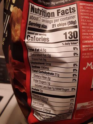 Ritz crackers 1x7.1 oz - Nutrition facts - en