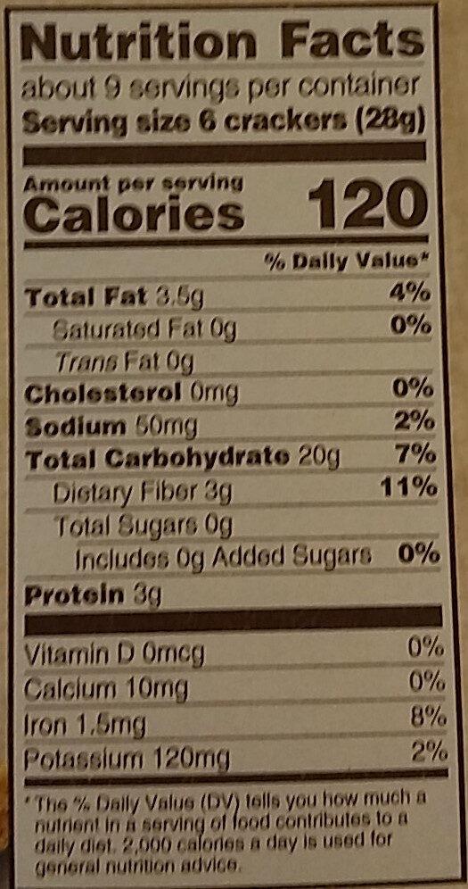 Triscuit crackers hint of salt 1x8.5 oz - Informations nutritionnelles - en