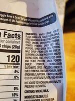 Ritz toasted chips vegetable 1x8.1 oz - Ingredients - en
