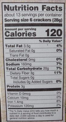 Triscuit crackers original 1x12.5 oz - Nutrition facts