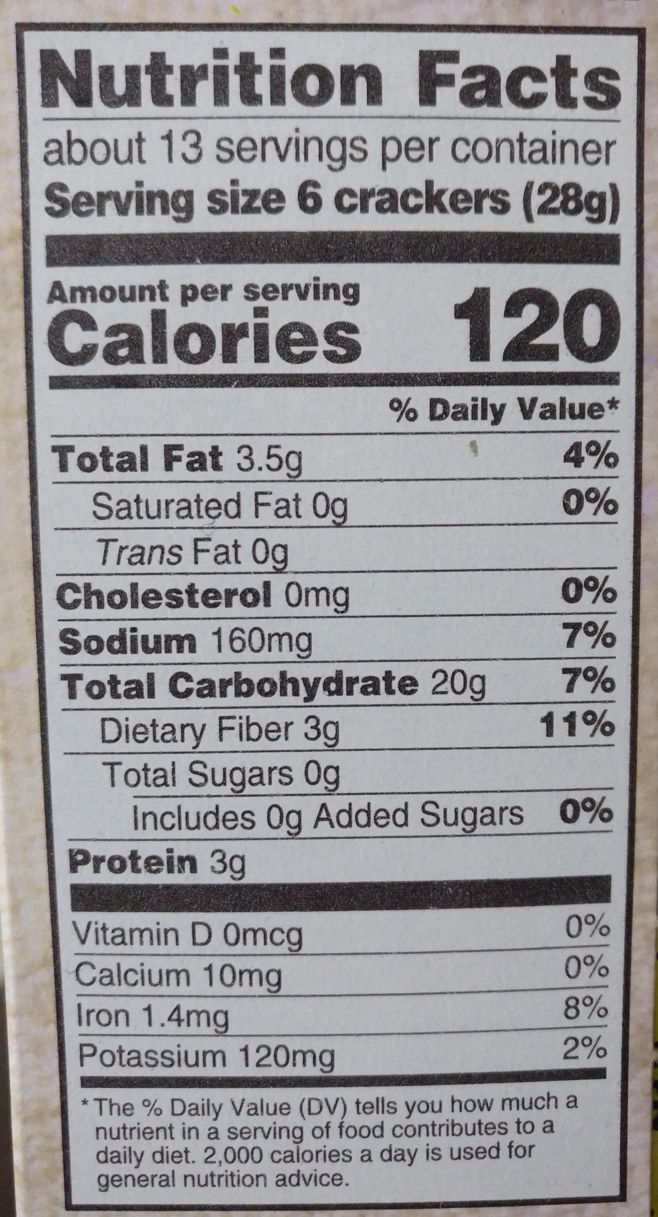 Triscuit crackers original 1x12.5 oz - Nutrition facts - en