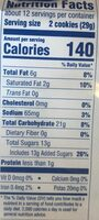 Carrot cake flavored cookie with cream cheese sandwich cookies, carrot cake - Nutrition facts - en