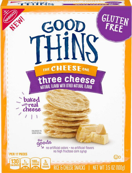 Good thins three cheese rice & cheese snacks - Product - en