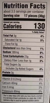 Good thins three cheese rice & cheese snacks - Nutrition facts - en