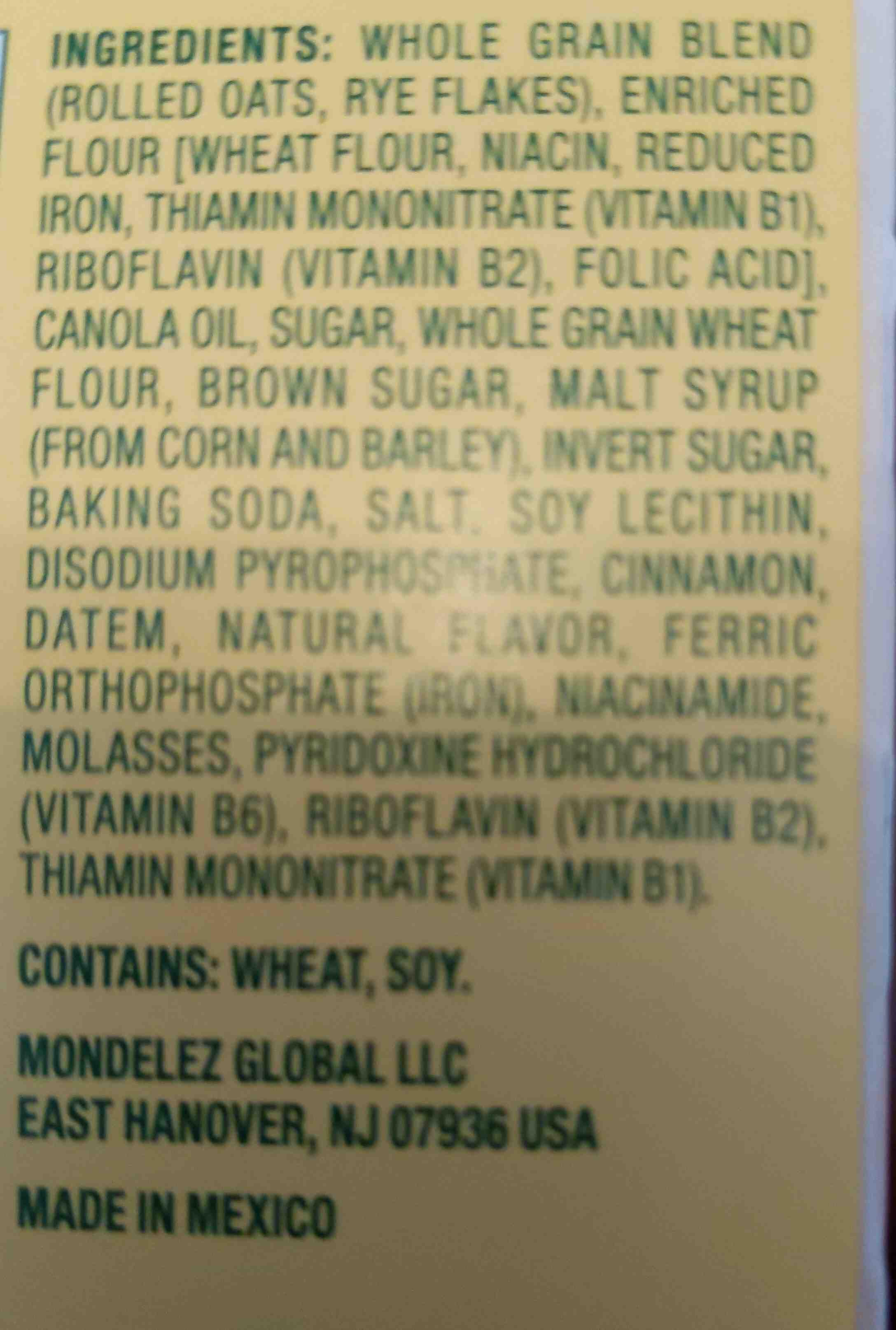belvita - Ingredients