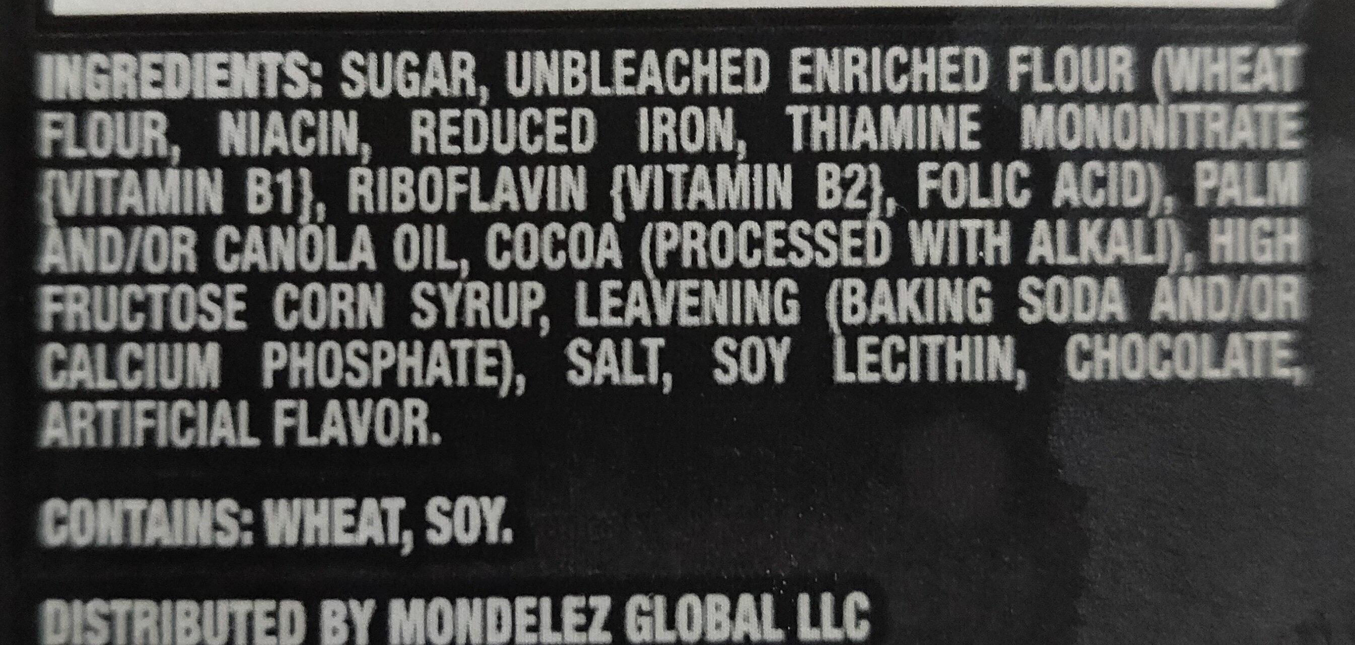 Chocolate sandwich cookies, chocolate - Ingredients - en