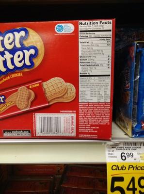 Peanut butter sandwich cookies - 1