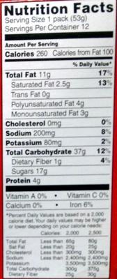 Peanut butter sandwich cookies - Informations nutritionnelles - en