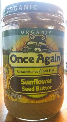 Unsweetened creamy sunflower seed butter, unsweetened creamy - Product - en