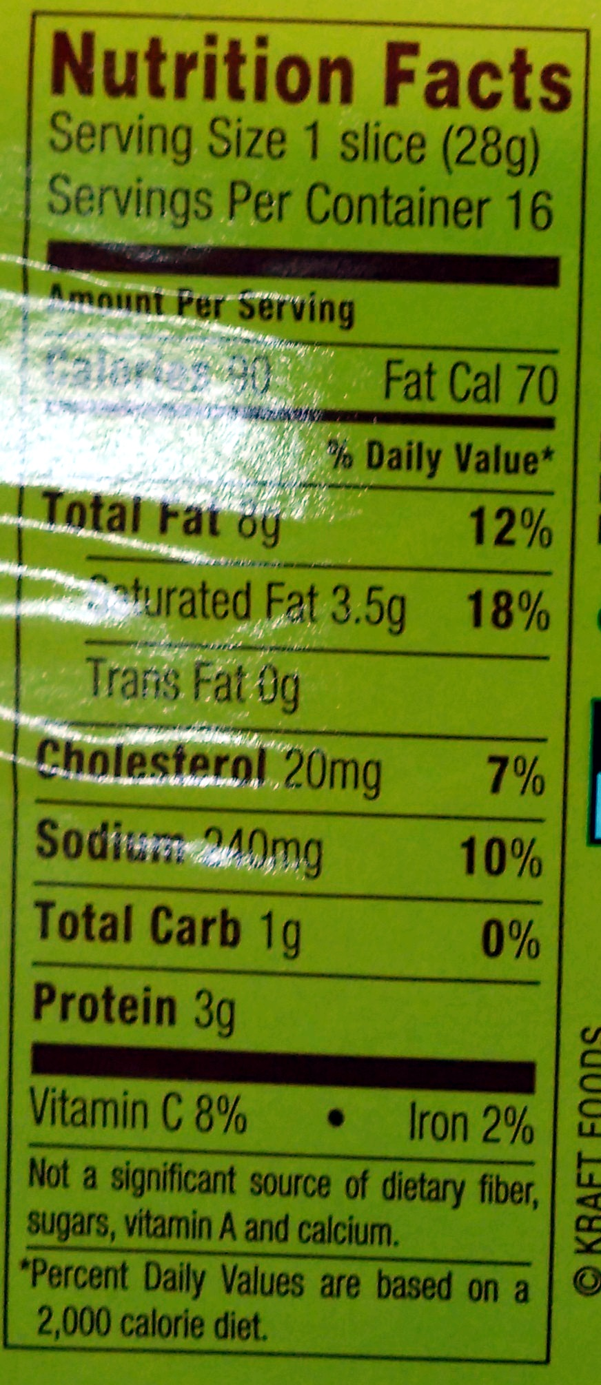 Beef Bologna - Nutrition facts