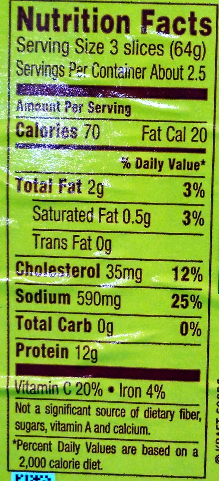 Lean Boiled Ham - Voedingswaarden - en