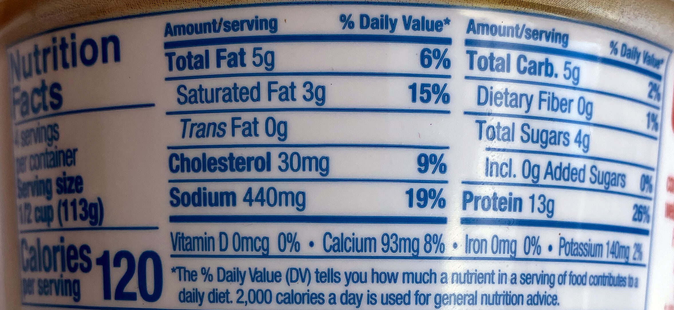 Country Style Cottage Cheese - Nutrition facts - en