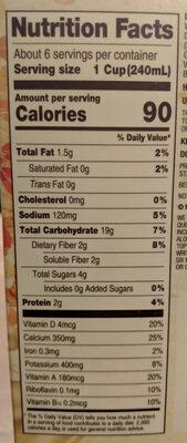 Oatmilk - Nutrition facts - en