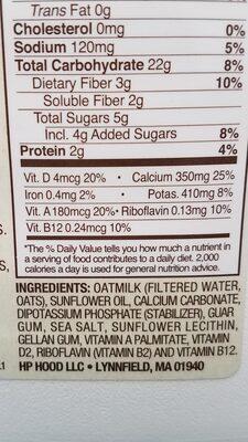 planet oat oatmilk - Ingredients - en