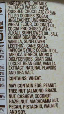 Cookies & Cream - Ingredients - en