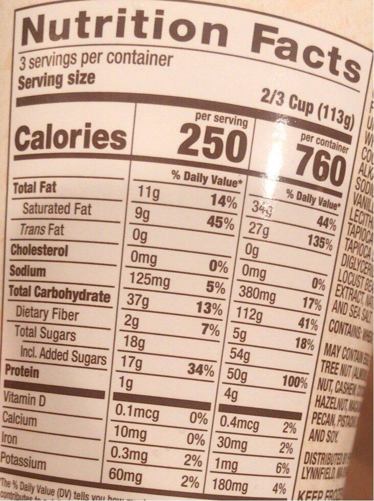 Cookies & Cream - Nutrition facts - en