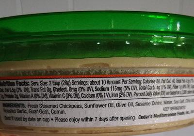 original hommus - Ingredients