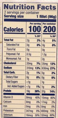 Classic grilled salmon - Informations nutritionnelles - en