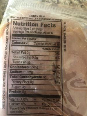 Hillshire farm honey ham - Nutrition facts - en