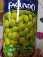 Green pigeon peas - Produit - es