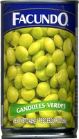 Gandules verdes en conserva - Producto