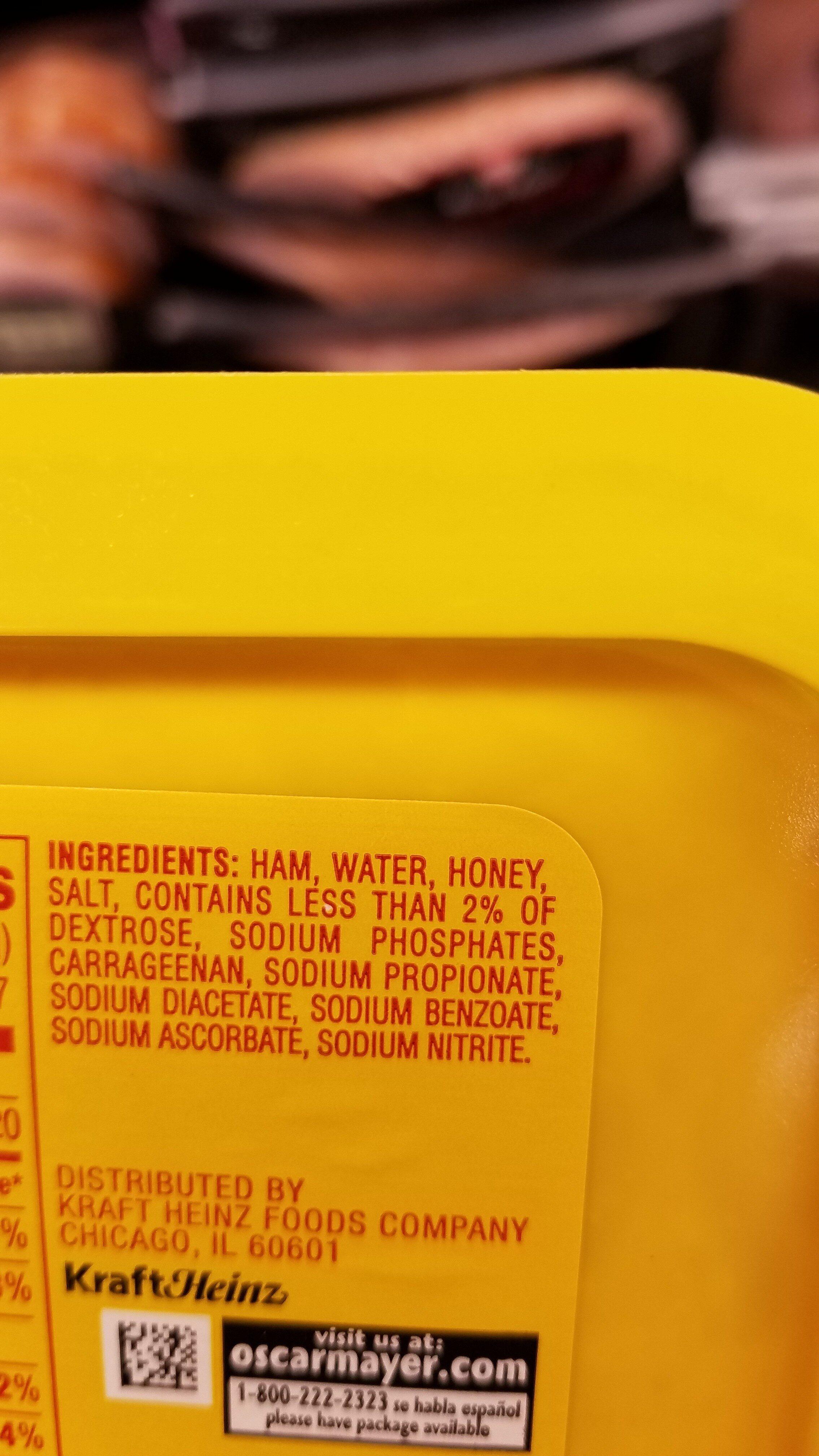 Lean honey ham - Ingredienti - en