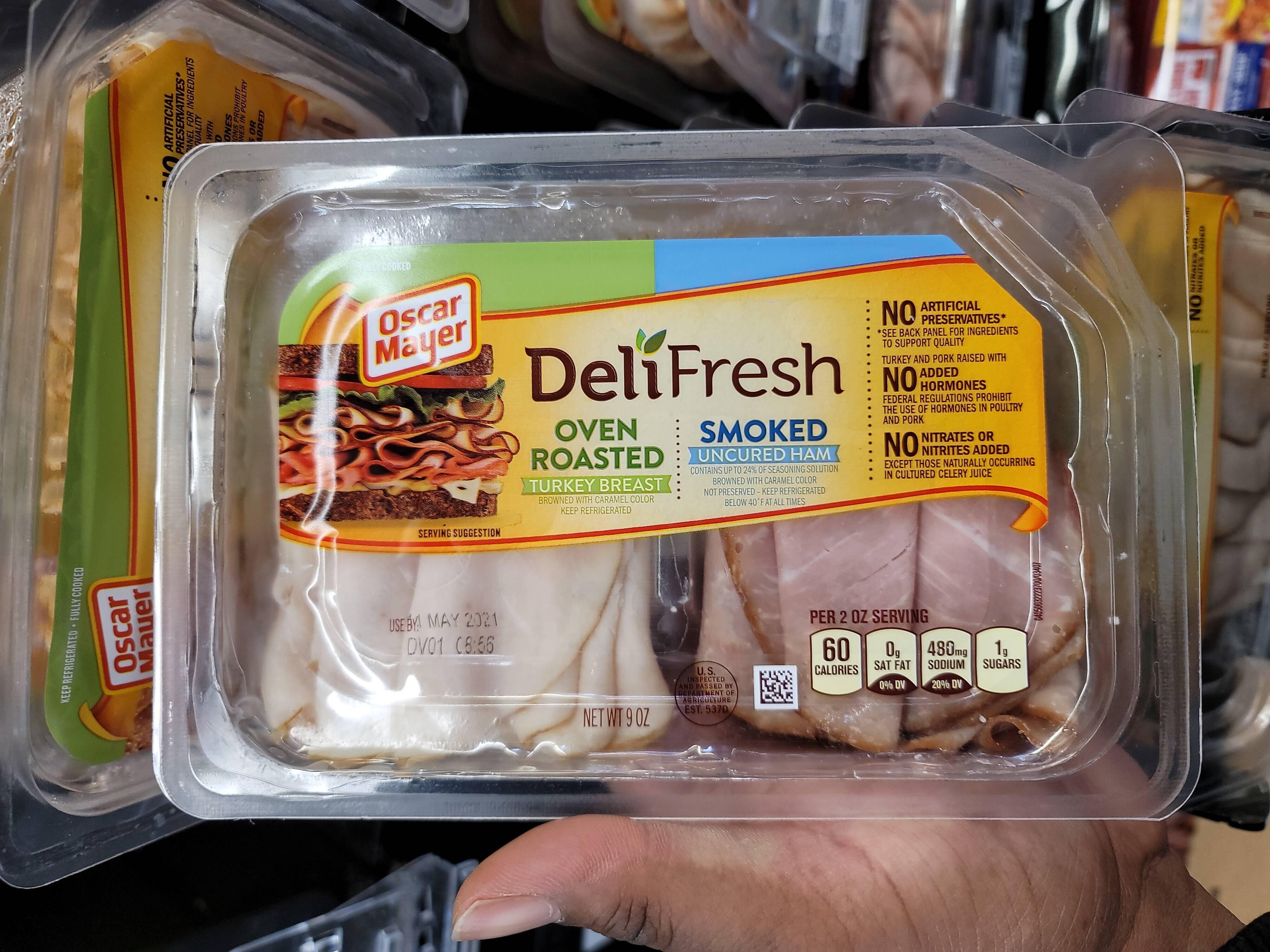 Oven roasted turkey breast, smoked uncured ham - Prodotto - en