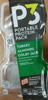 P turkey colby jack & almonds portable protein - Product