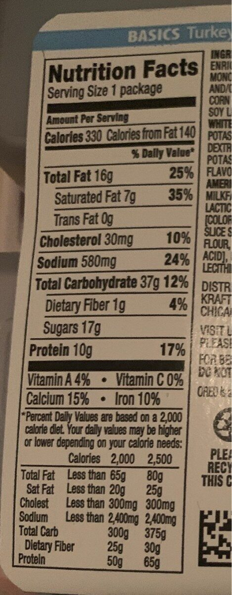 Lunchables turkey & american cracker stackers - Voedingswaarden - en