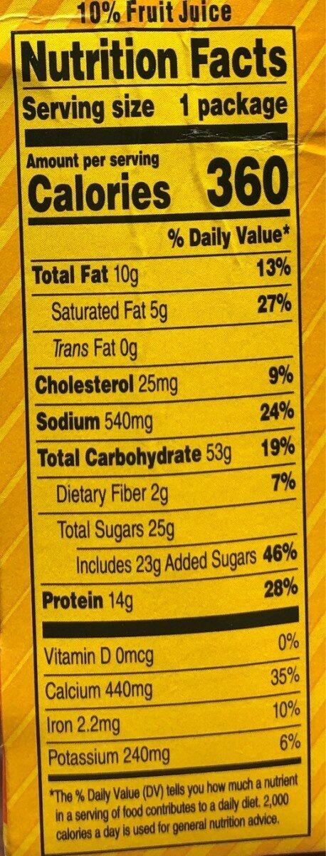 Extra cheesy pizza - Nutrition facts - en