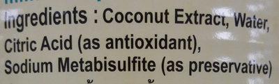 coconut milk - Sản phẩm - en
