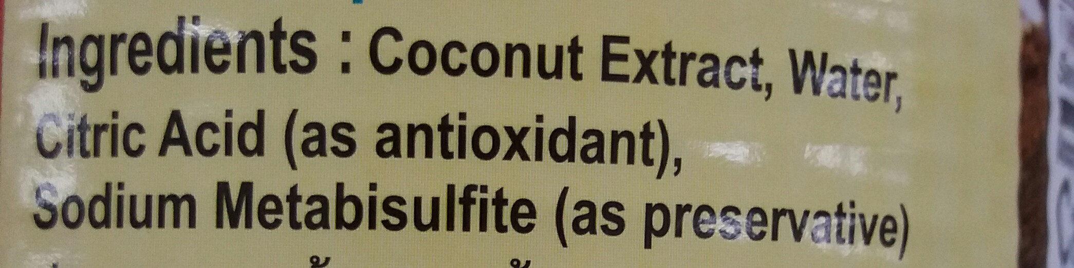 coconut milk - Thành phần - en