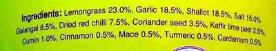 Yellow Curry Paste - Ingredients - en