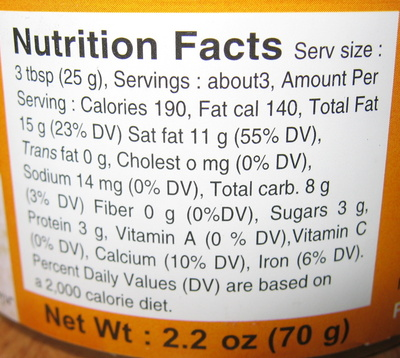 Coconut Milk Powder - Nutrition facts - en
