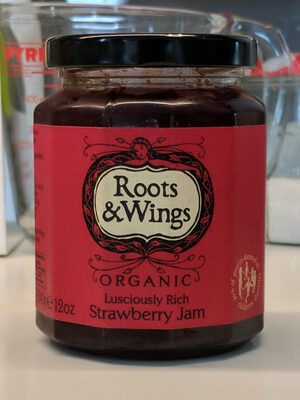 Roots & Wings Strawberry Jam - Organic - Product