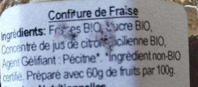 Roots & Wings Strawberry Jam - Organic - Ingrédients