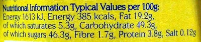 Organic Beautifully Smooth Lemon Curd - Nutrition facts