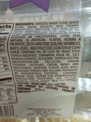 Cinnamon Mini Danish - Ingredients