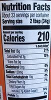 Peter Pan Creamy Honey Roast Peanut Spread, 40 oz, 40 OZ - Nutrition facts - en