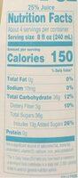 Banana juice case - Nutrition facts - en