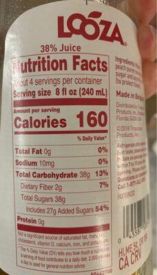Looza Peach Juice - Nutrition facts - en