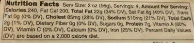 Pate de campagne - Nutrition facts - en