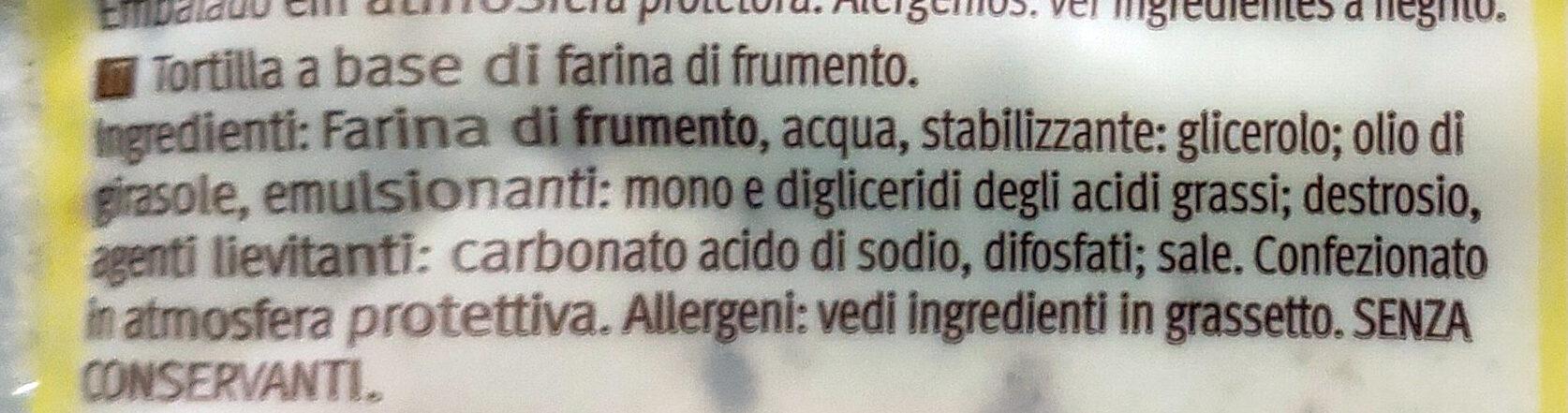 Tortillas trigo - Ingredienti - it