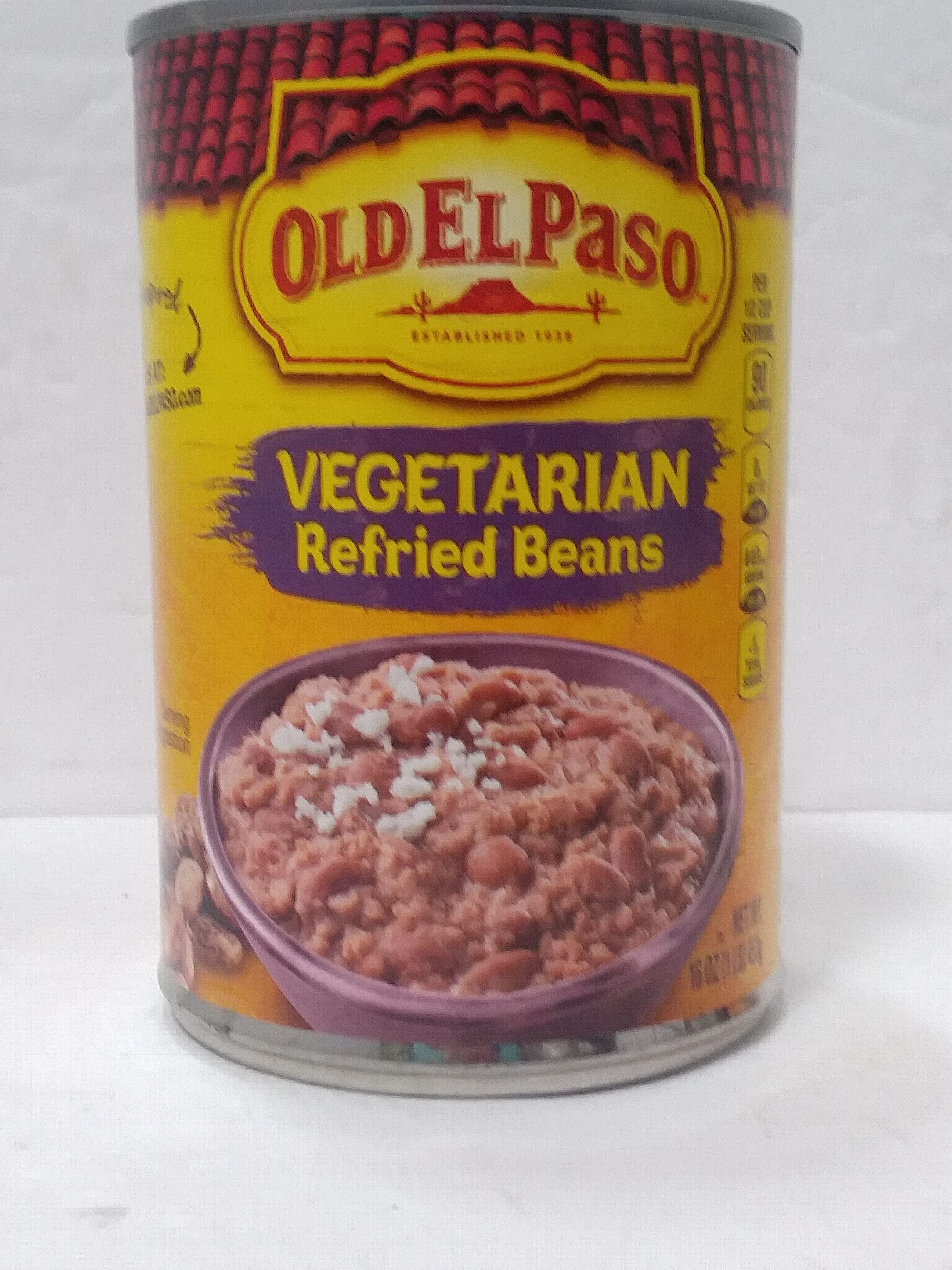 vegetarian refried beans - Product - en