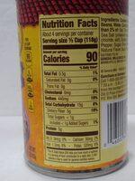 vegetarian refried beans - Nutrition facts - en