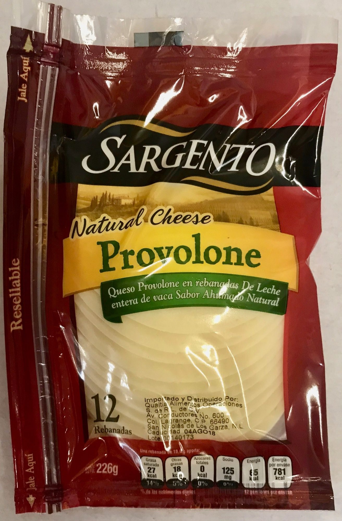 Natural Provolone cheese - Product - es