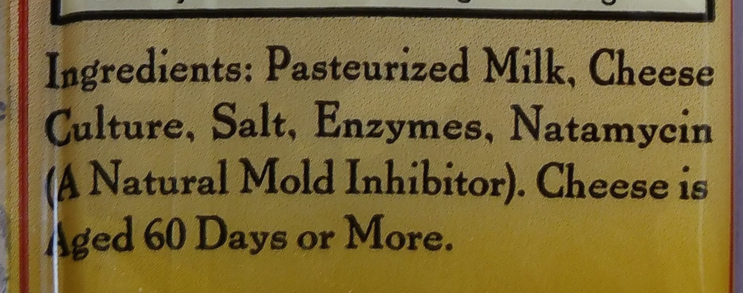 Natural Aged Swiss Cheese - Ingredients