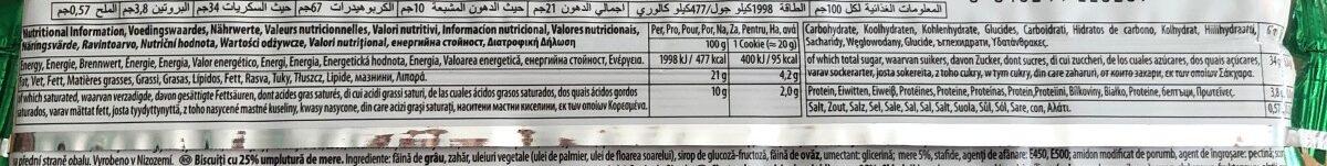 Apple Pie Cookies - Informations nutritionnelles - fr
